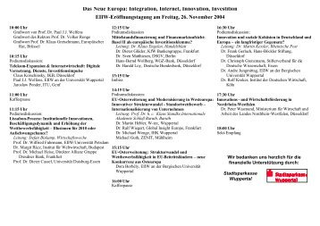 Workshop Program - EIIW