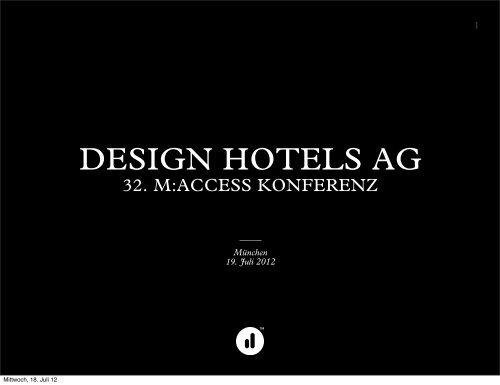 members portal - Design Hotels