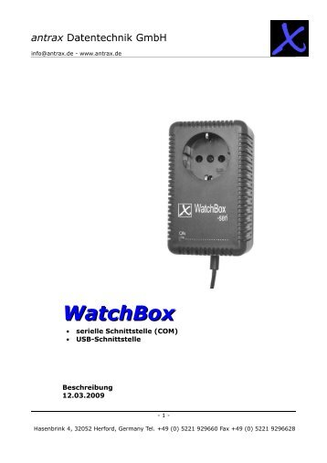 WatchBox - antrax.de