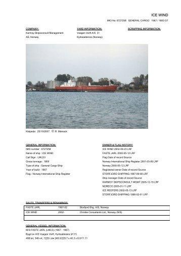 ICE WIND IMO No - Cargo Vessels International