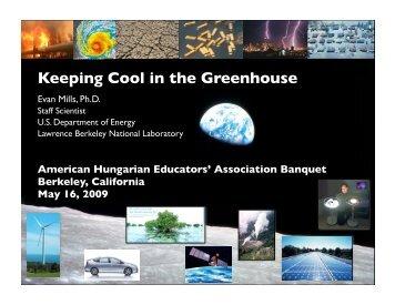 Keeping Cool in the Greenhouse - Evan Mills - Lawrence Berkeley ...