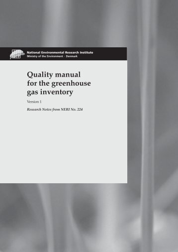 Quality manual for the greenhouse gas inventory. Version 1.