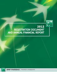 2012 Registration document and annual financial report - BNP Paribas