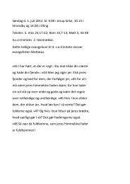 Søndag d. 1. juli 2012. kl. 9.00 i Jerup kirke, 10.15 i Strandby og ...