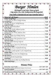Download vores menukort - Hos Tetzlaff