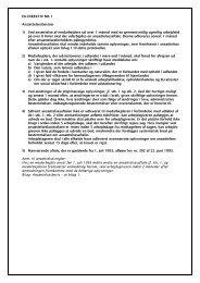 EU-DIREKTIV NR. 1 Ansættelsesbeviser 1) Ved ansættelse af ... - HK