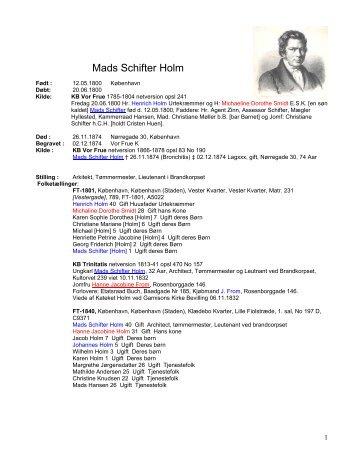 Persondata Mads Schifter Holm