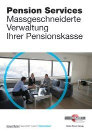Broschure Pension Services - Groupe Mutuel