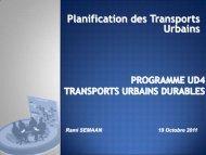 Planification des Transports Ubains a l'Est - CMI