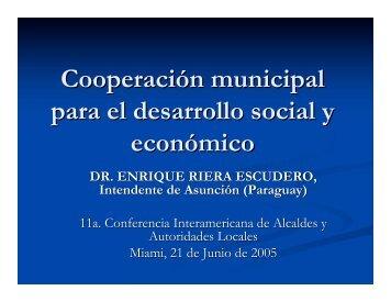 Dr. Enrique Riera Escudero. Intendente de Asunción