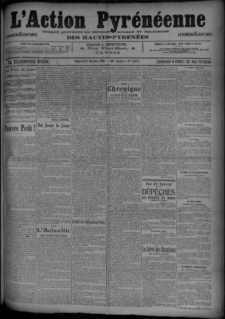 22 octobre 1910 - Bibliothèque de Toulouse