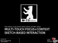 Multi-touch Focus+Context Sketch-based Interaction - TU Berlin