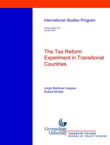 The Tax Reform Experiment in Transitional Countries