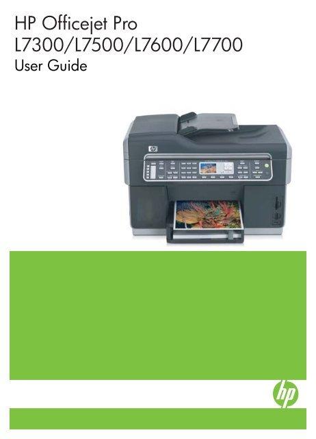 HP Officejet Pro L7300/L7500/L7600/L7700 - Newegg com