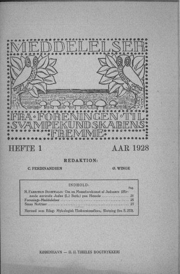 HEFTE 1 AAR 1928