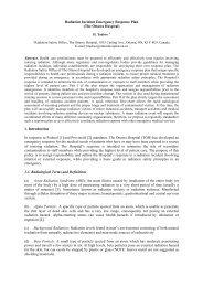Radiation Incident Emergency Response Plan - IRPA