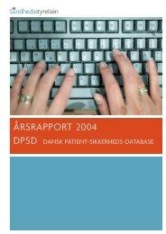rsrapport 2004 DPSD Dansk Patient-sikkerheds-database