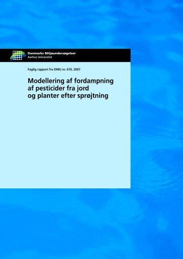 Modellering af fordampning af pesticider fra jord og planter efter ...