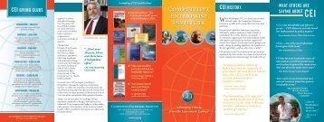 CEI brochure.indd - Competitive Enterprise Institute