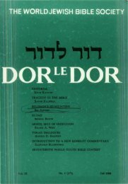 1., DOR le DOR - Jewish Bible Quarterly