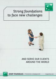 Strong foundations to face new challenges - BNP Paribas