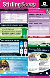 Stirling Star Award Nominations Easter Rubbish Collection Notice ...