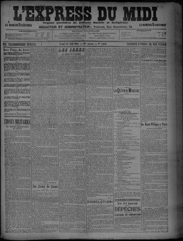 17 Mai 1909 - Bibliothèque de Toulouse