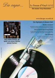Le Forum d´Vinyl Ausgabe November 2012 - Da capo