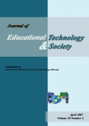 April 2007 Volume 10 Number 2 - Educational Technology & Society