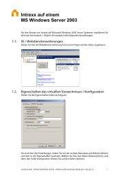 Intrexx auf einem MS Windows Server 2003