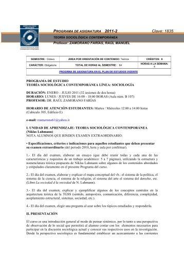 Teoría sociología contemporánea - Centro de Estudios Sociológicos ...