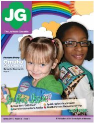Juliette Gazette, Spring 2011 - Girl Scouts Spirit of Nebraska