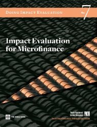 Impact Evaluation for Microfinance: Review of Methodological Issues