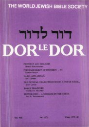 Prophecy and Halacha - Jewish Bible Quarterly