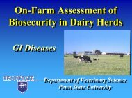On-Farm Assessment of Biosecurity in Dairy Herds - Veterinary and ...