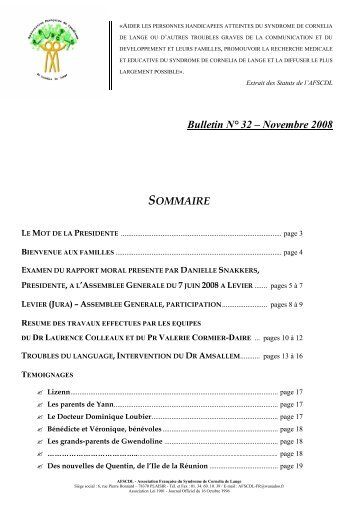 Bulletin N° 32 – Novembre 2008 - Orphanet