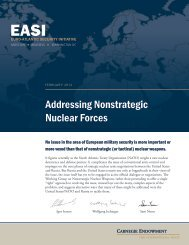 Addressing Nonstrategic Nuclear Forces - Carnegie Endowment for ...