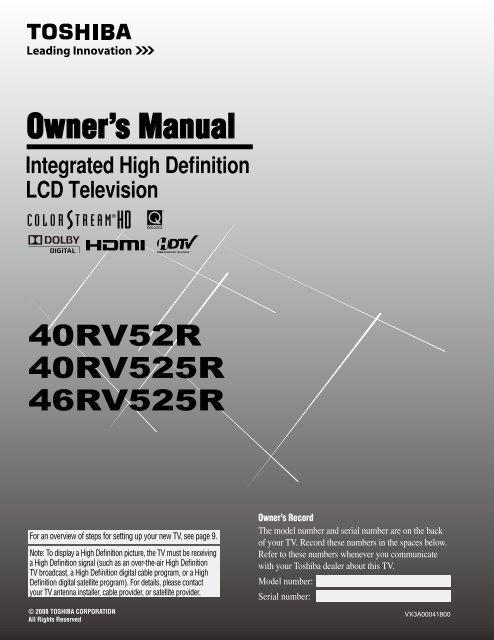 Toshiba 40RV525R PDF Manual - static.highspeedb...