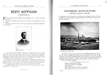 BERNT HOFFMANN - Strinda historielag