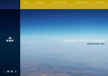 ÅRSRAPPORT 2007 - Eksport Kredit Fonden
