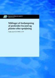 Målinger af fordampning af pesticider fra jord og planter efter ...