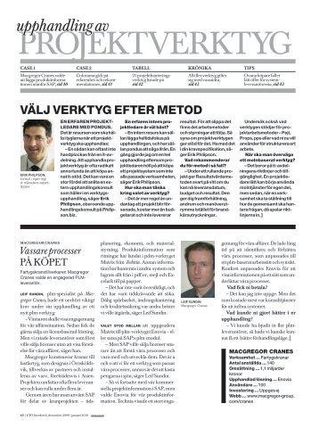 8/2009: Projektverktyg - CIO Sweden - IDG.se