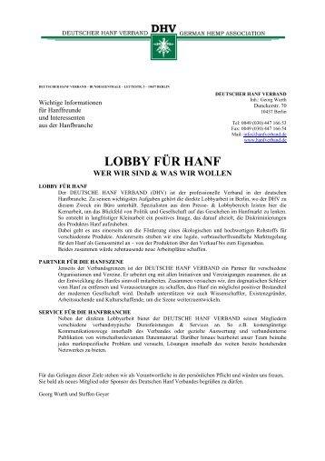 LOBBY FÜR HANF - des Deutschen Hanf Verband