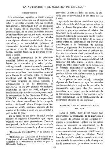 LA NUTRICION Y EL MAESTRO DE ESCUELA'T~ Los ... - PAHO/WHO