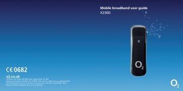 o2.co.uk Mobile broadband user guide X230D