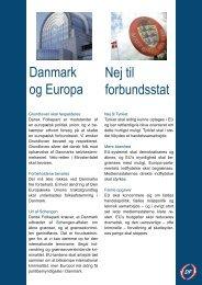 Nej til forbundsstat Danmark og Europa - Dansk Folkeparti