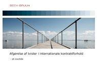 Afgørelse af tvister i internationale kontraktforhold - Offshore Center ...
