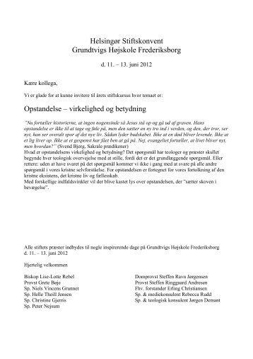 Helsingør Stiftskonvent Grundtvigs Højskole ... - helsingoerstift.dk