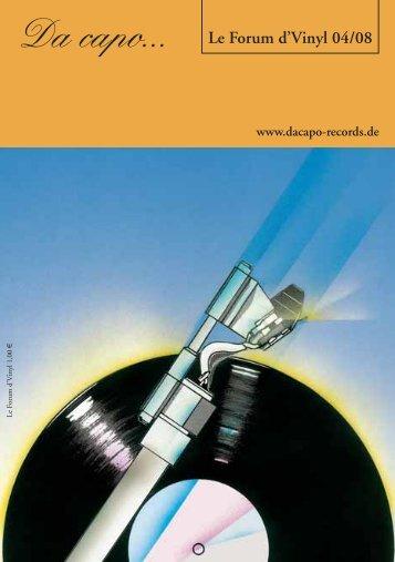 Le Forum d´Vinyl Ausgabe April 2008 - Da capo