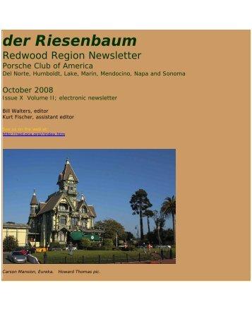 October - Redwood Region - Porsche Club of America